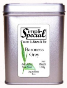 Baroness Grey Loose Leaf Tea 100g in Stackable Gift Caddy.