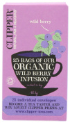 Clipper Organic Infusion Wild Berry Enveloped 25 Teabags 62.5 g