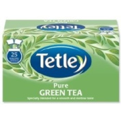 New. Tetley Tea Bags Pure Green Tea Individually Wrapped Ref A07505 [Pack 25]
