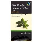 Lichfields Fairtrade Green Tea 20 Tea Bags 40g