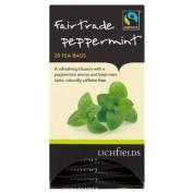 Lichfields Fairtrade Peppermint 20 Tea Bags 30g