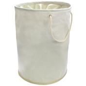 Cream Pop Up Laundry Hamper Storage Washing Bag With Carry Handles 35cm x 48cm