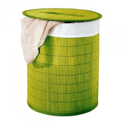 Ridder 21005005 Laundry Basket Approximately 37 x 50 cm Green Bamboo