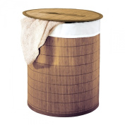 Ridder 21005008 Laundry Basket Approximately 37 x 50 cm Brown Bamboo