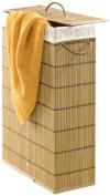 Wenko 7879500 39 x 60 x 18.5 cm Laundry Basket Slim Bamboo