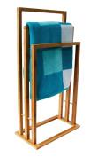 Bamboo Towel Rack Bathroom - 42 x 24 x 81,5cm