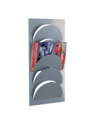 Zeller 10460 Magazine Rack for Wall Fixation 29x62 cm Metal