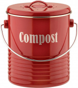 Typhoon Vintage Kit Compost Caddy, Red