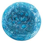Jazzitup Aqua Bubbles 21Cm Round Fused Glass Dish