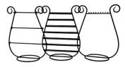 Set of 3 Tabletop Jewellery Organiser Stands for Hanging Earrings, Bracelets, & Necklaces, Black