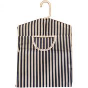British Seaside Stripe Design Peg Bag - Blue