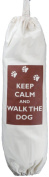Keep Calm and Walk the Dog - Carrier Bag Holder - Natural cotton plastic bag storage