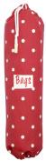 Large Red Polka Dot Plastic Bag Holder
