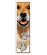 Vervaco PN-0143912 | Dog With Paw Prints Bookmark Counted Cross Stitch Kit