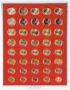 Coin box with 40 compartments for 5 regular Euro coin sets [Lindner 2556] Standard