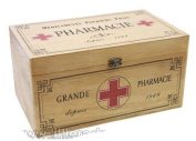 Large Wooden French Style First Aid Box