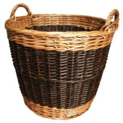 Small Willow Log Basket - 39(w) x 30(h) cm - by JVL