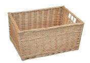 Buff Willow Wicker Storage Basket