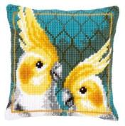 Cross Stitch Cushion Cockatiels