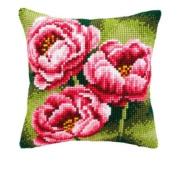 Cross Stitch Cushion: Anemones