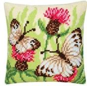 Cross Stitch Cushion Butterflies