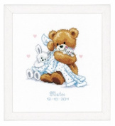 Counted Cross Stitch Kit - Birth - Teddy And Blanket