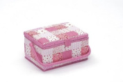 Sewing Basket Patchwork (M) With Free Sewing Kit