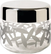 Alessi Cactus Glass Jar with Stainless-Steel Lid, 500ml