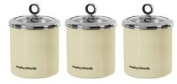Morphy Richards 3 x Large Kitchen Storage Canisters - Cream