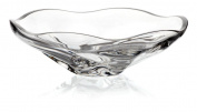"Crystal Bowl, Fruit Bowl, Salad Bowl, Ideal for dinner parties Collection ""KATARINA SILVER"", 32 cm, transparent"