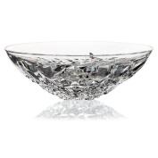 "Crystal Bowl, Fruit Bowl, Salad Bowl, Ideal for dinner parties, Collection ""KATERINA GOLD"", 32,5 cm, transparent"