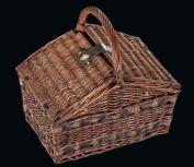 Cilio Como 155105 Picnic Basket Brown for 4 People