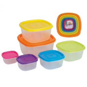 Excellent Houseware 6 Piece Storage Boxes Re-sealable Food Containers