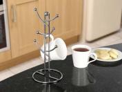 SupaHome 6 Cup Mug Tree Chrome Plated