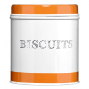 Arancio Biscuit Canister Made Of Galvanised Steel Material With Orange Colour Band