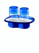 Fratelli Guzzini Spa Two Tone Salt Pepper Set Vintage, Blue