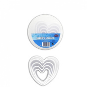 5 Piece Pastry & Cookie Cutters in Heart shapes from Royle Home