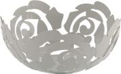 Alessi La Rosa 29 cm Fruit Bowl in Steel Coloured with Epoxy Resin, Platinum White
