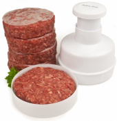 Andrew James Hamburger Maker / Beefburger Press + 100 Wax Discs - Ideal For Summer BBQ's - Comes Apart For Easy Cleaning