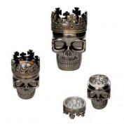 Eeazy-Gizmo - 3 Part King Skull - Metal Herb Grinder
