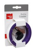 Vacu Vin Wine Bottle Coaster / Surface Protector - White / Purple