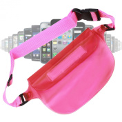 DURAGADGET Waterproof Protective Waist Bag / Dry Pouch With Dual Seal For Smart Phones Including iPhone 4 / 4S, HTC One X & One S