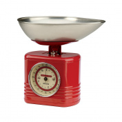 Typhoon Vintage Kitchen Scales, Red