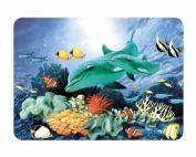 Medium Premium Glass Chopping Board - Aquarium Design Kitchen Worktop Saver Protector