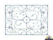 Premium Glass Chopping Board - Indisch Blue Design Kitchen Worktop Saver Protector