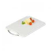 Zeller 26040 Chopping Board 36 x 26 cm Plastic with Chrome Handle