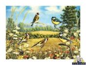 Premium Glass Chopping Board - Goldfinch Birds Design Kitchen Worktop Saver Protector