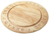 Stow Green carved round Wooden Chopping Board