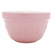 Mason Cash Flour Power S36 Pudding Basin, Pink