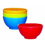 Miniamo Brights Melamine Bowls, Set of 4